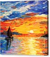 Romantic Sea Sunset Acrylic Print