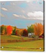 Romantic Skies Autumn Farm Acrylic Print