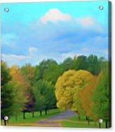 Romantic Skies Autumn Road Acrylic Print