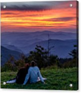 Romantic Smoky Mountain Sunset Acrylic Print