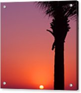 Romantic Sunset Acrylic Print
