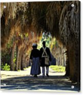 Romantic Walk 1870 Acrylic Print