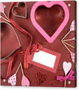 Romantic Theme Cookie Cutters Acrylic Print