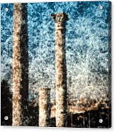 Rome - 3 Classic Colums Acrylic Print