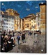 Rome - Piazza Della Rotunda Acrylic Print by Jen White