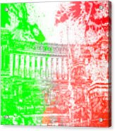 Rome - Altar Of The Fatherland Colorsplash Acrylic Print