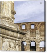 Rome Arch Of Titus Sculpture Detail Acrylic Print