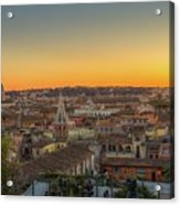 Rome At Sunset Acrylic Print