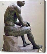 Rome Boxer Sculpture Acrylic Print by Granger