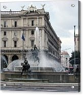 Rome Italy Fountain  Acrylic Print