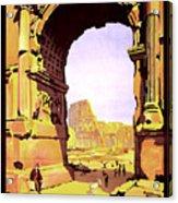 Rome, Italy, Rome Express Railway Acrylic Print