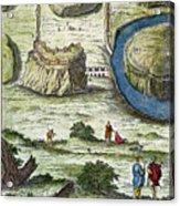 Rome: Seven Hills, 18th C Acrylic Print