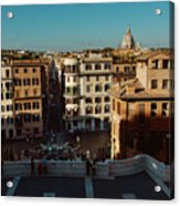 Rome Spanish Steps View Acrylic Print