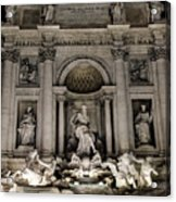Rome - The Trevi Fountain At Night 3 Acrylic Print