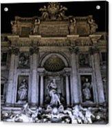 Rome, Trevi Fountain At Night Acrylic Print