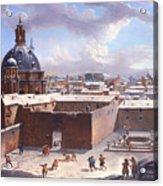 Rome Under The Snow Acrylic Print