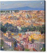 Rome View From Gianicolo Acrylic Print