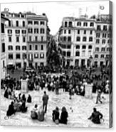 Rome View From The Spanish Steps Acrylic Print