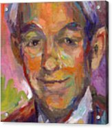 Ron Paul Art Impressionistic Painting  Acrylic Print