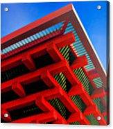 Roof Corner - Expo China Pavilion Shanghai Acrylic Print by Christine Till