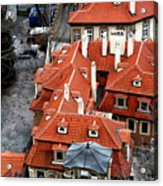 Roofs In Prague Acrylic Print