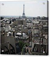 Roofs Of Paris. France Acrylic Print by Bernard Jaubert