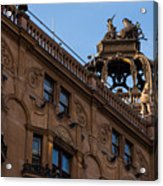Rooftop Chariots And Horses - The Hippodrome Casino Leicester Square London U K Acrylic Print