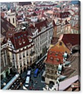 Rooftop In Prague Acrylic Print