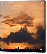 Rooftop Sunset 3 Acrylic Print