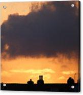Rooftop Sunset Acrylic Print