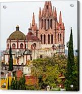 Rooftop View Of La Parroquia De San Miguel Arcangel Acrylic Print by Rob Huntley