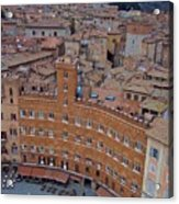 Rooftops And Cafes Of Il Campo Acrylic Print
