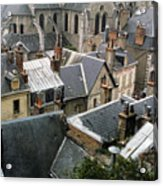 Rooftops Of Blois In France 3 Acrylic Print