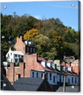 Rooftops Of Harpers Ferry Acrylic Print