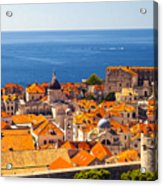 Rooftops Of Old Town Dubrovnik Acrylic Print