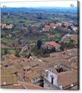 Rooftops Of Siena Acrylic Print