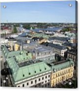 Rooftops Of Stockholm Acrylic Print