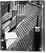 Rooftops Of Belgium Gothic Style Acrylic Print