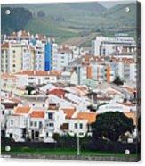 Rooftops Of Ponta Delgada Acrylic Print