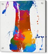Rook Chess Piece Paint Splatter Acrylic Print