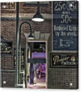 Rooms For Rent 25 Cents Signage Acrylic Print