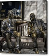 Roosevelt And Churchill Statue Acrylic Print