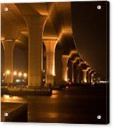 Roosevelt Bridge At Night Acrylic Print