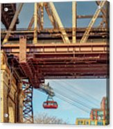 Roosevelt Tram Underneath The 59 St Bridge Acrylic Print
