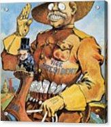 Roosevelt/mckinley Cartoon Acrylic Print