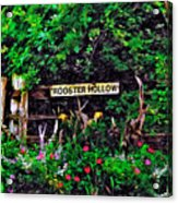 Rooster Hollow Acrylic Print