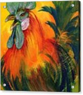 Rooster Of Another Color Acrylic Print