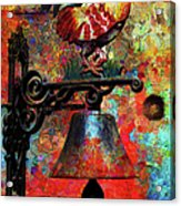 Rooster On The Door Whimsy Acrylic Print