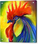 Rooster Painting Acrylic Print