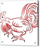 Rooster - Sign Of Chinese New Year Acrylic Print